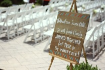 Copy of ceremony sign