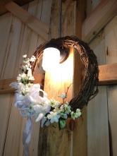 barn wedding white