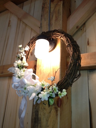 barn wedding white