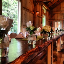 bridal party head table all dressed up