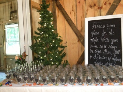 mason jars for all guests
