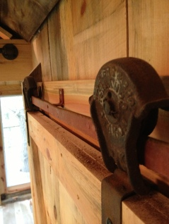 old hardware brought to life in the new tree house