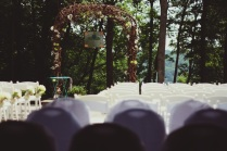 patio set for ceremony
