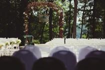 patio set for ceremony